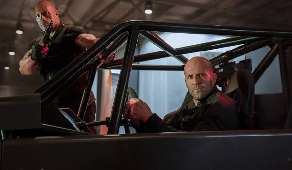 Hobbs & Shaw using the Rock Crawler vehicle to look menacing