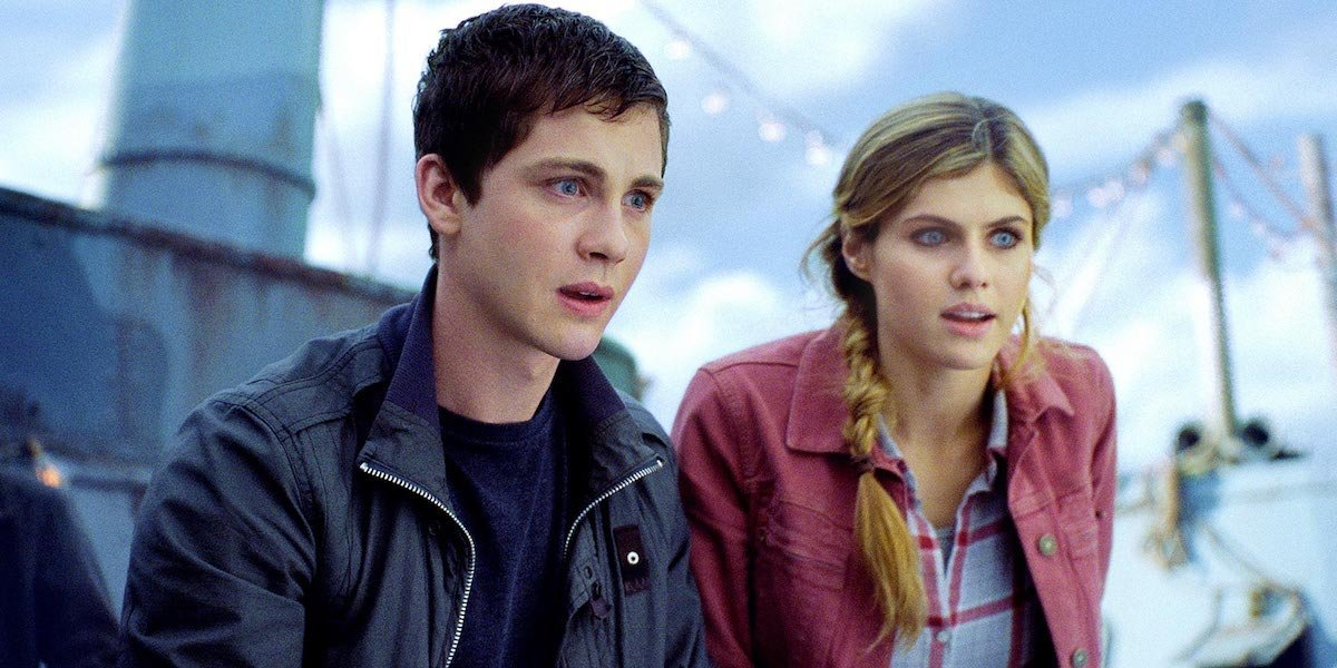 Logan Lerman and Alexandra Daddario in Percy Jackson