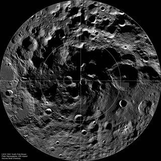 Moon's south pole