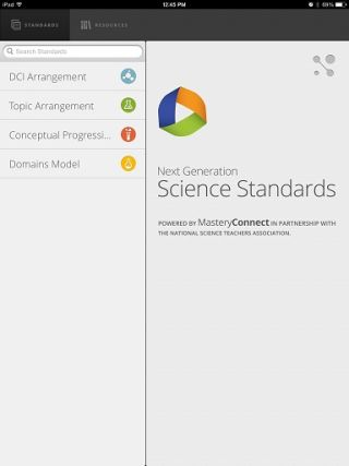 Free App Offers Quick Access to Next Gen Science Standards
