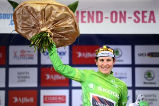 Elise Chabbey (Canyon SRAM Racing) leads mountains classification at The Women's Tour