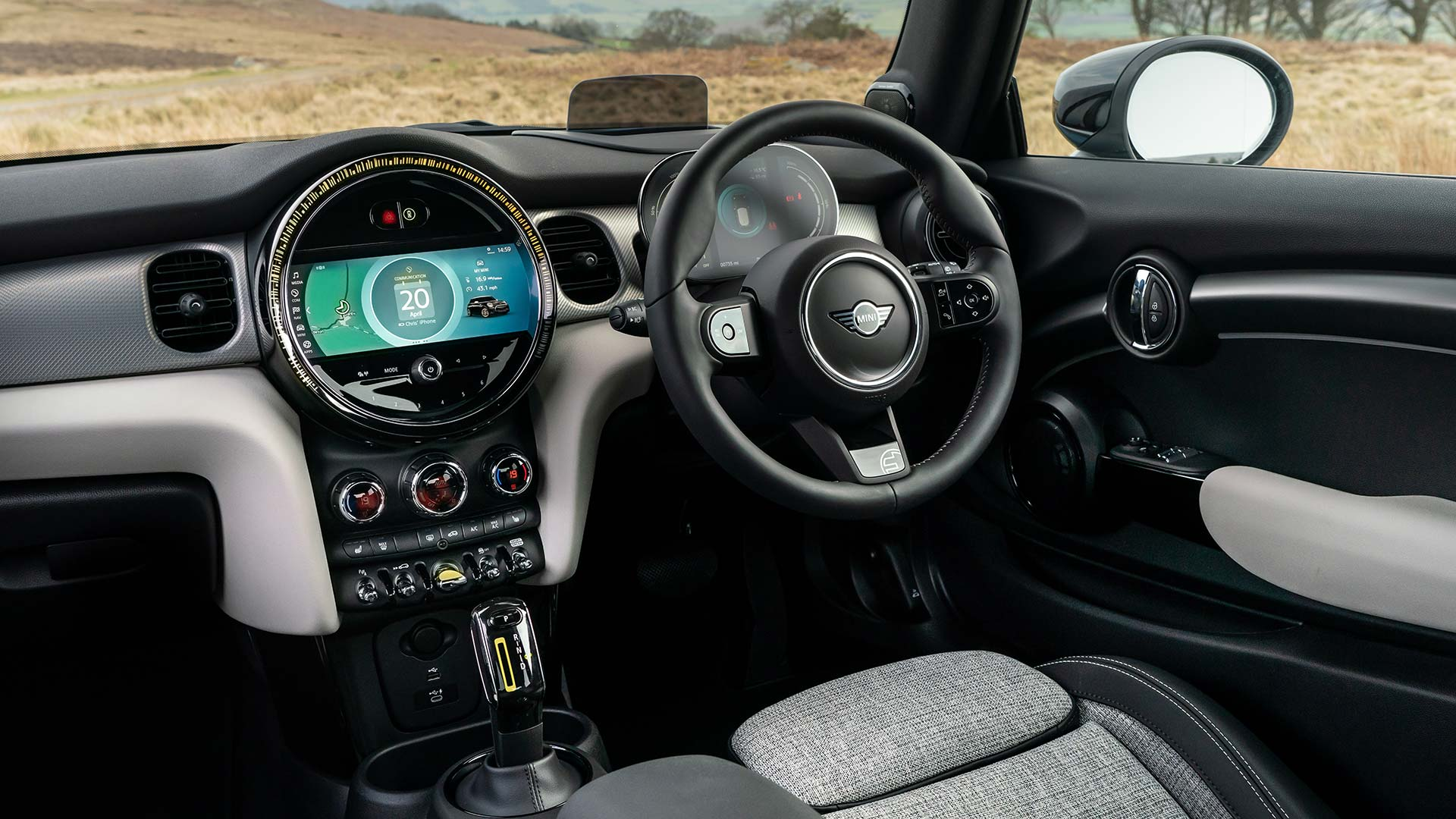 Mini Electric charging - interior