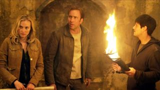 Nic Cage and Diane Kruger in National Treasure.
