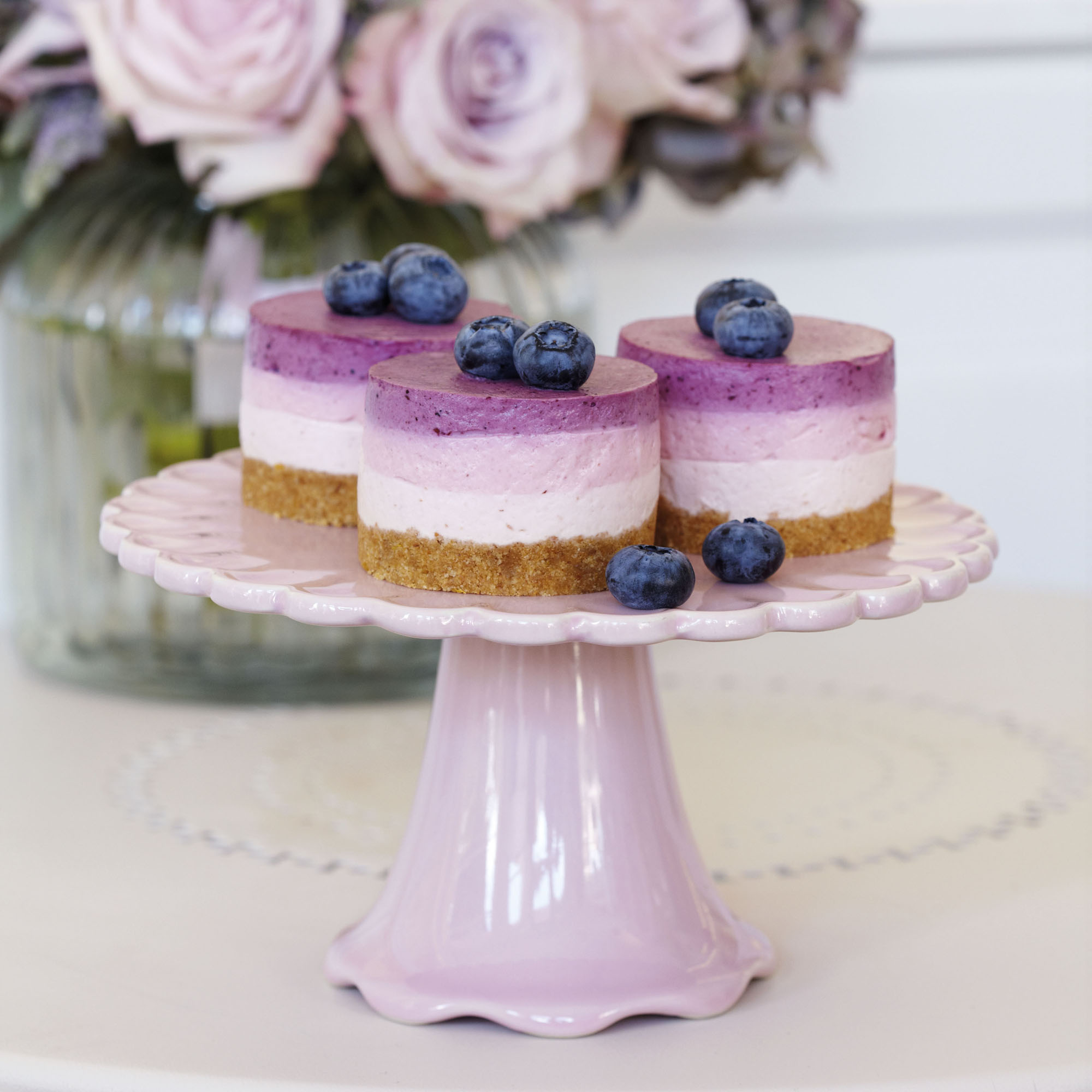 Triple Berry Mousse Cake Recipe