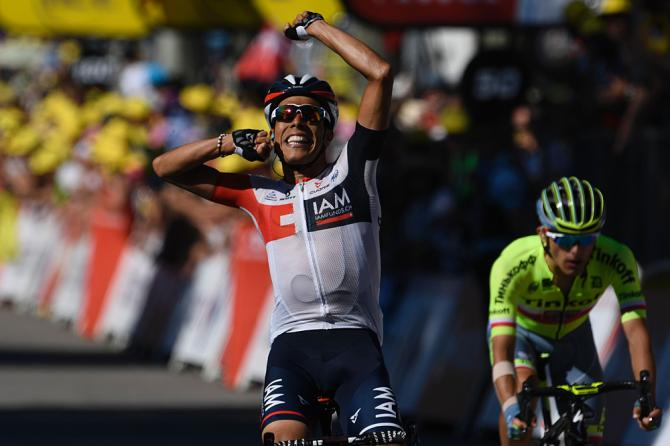 Jarlinson Pantano (IAM Cycling) wins stage 15 of the Tour de France