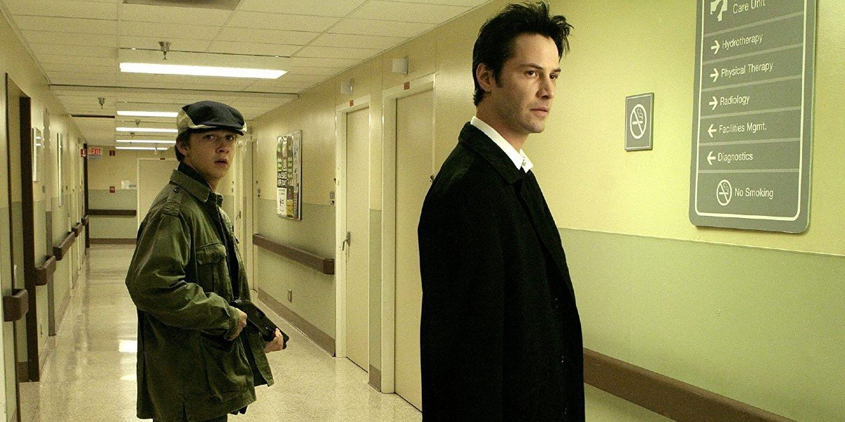 Shia LeBeouf and Keanu Reeves in Constantine