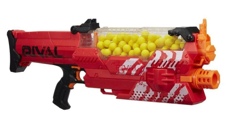 Orange Nerf gun Good if you're planning to stay in one spot.