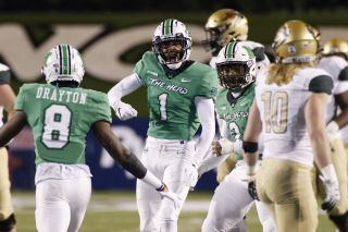Derrek Pitts of the Marshall Thundering Herd reacts after defending a pass against the UAB Blazers during the Conference USA Championship at Joan C. Edwards Stadium on Dec. 18, 2020 in Huntington, West Virginia.