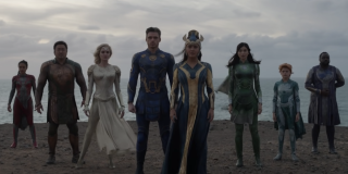 The Eternals meeting Earthlings for the first time in Marvel's Eternals