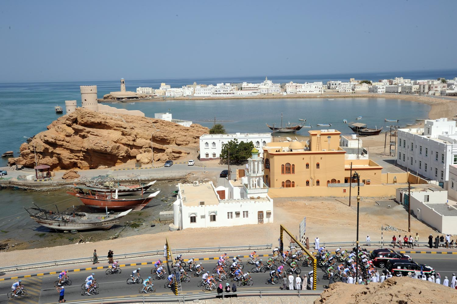 Start in Sur, Tour of Oman 2011, stage three