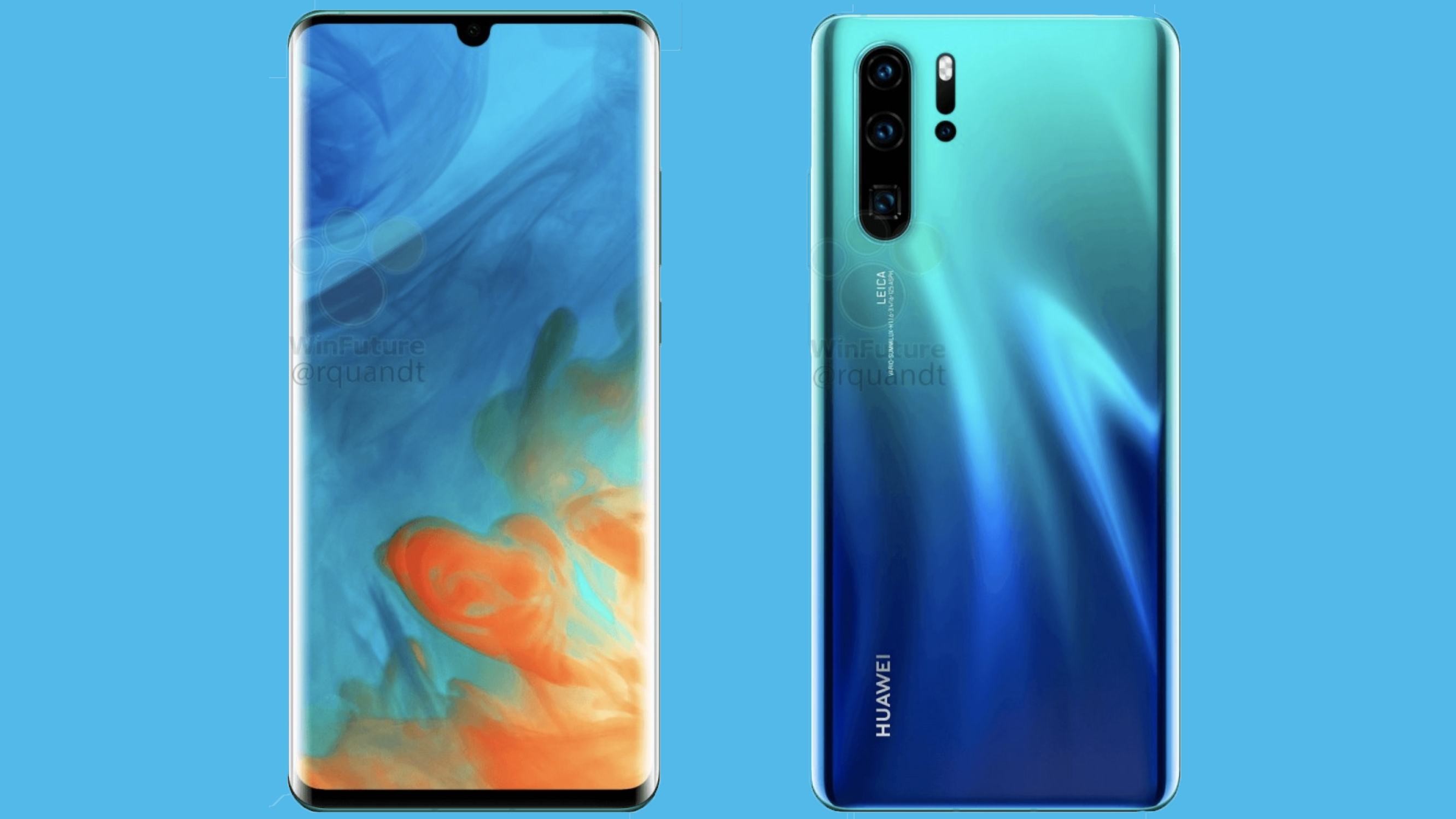 Huawei P30 Pro leaked pictures show off four cameras and