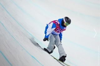 Clemence Grimal of France, halfpipe semifinals