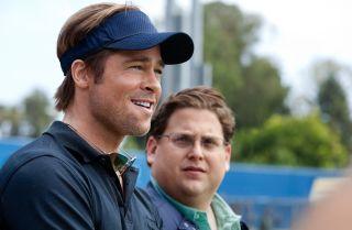 Brad Pitt and Jonah Hill rethink the game of baseball