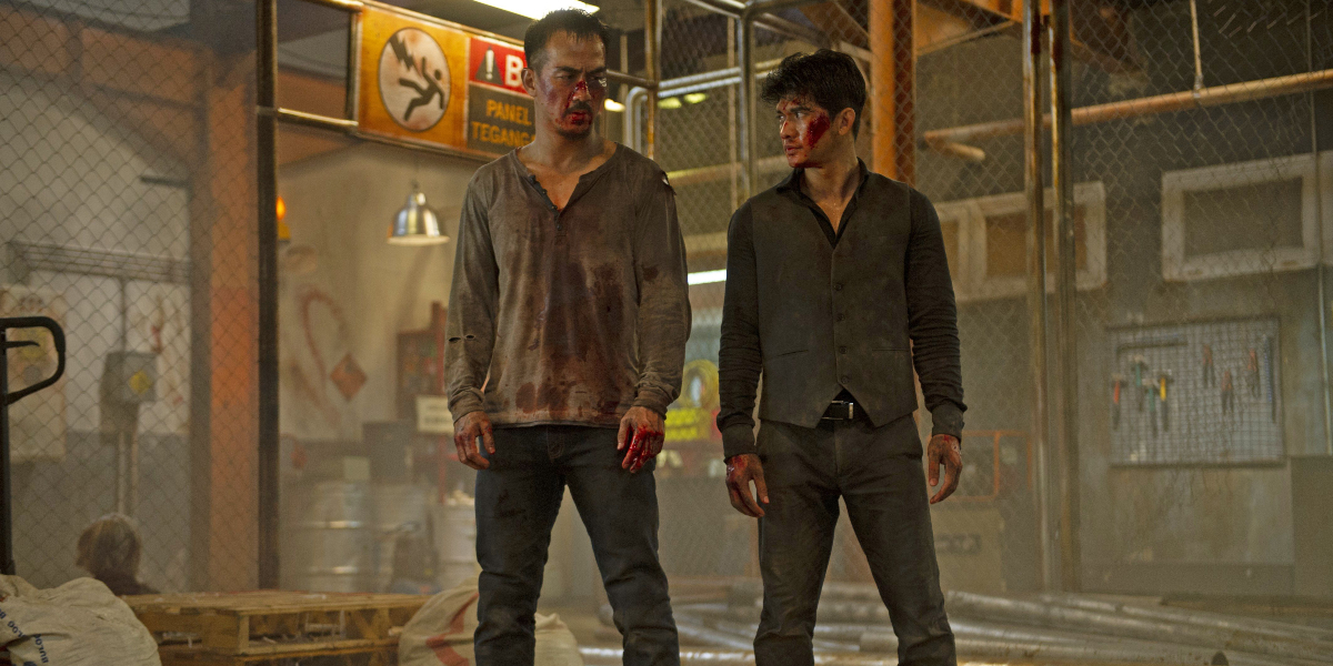 Joe Taslim and Iko Uwais in The Night Comes For Us