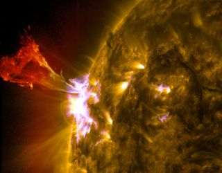 A solar flare and sun eruption was unleashed on May 3, 2013.