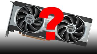 A Gigabyte Radeon card with a big red question mark