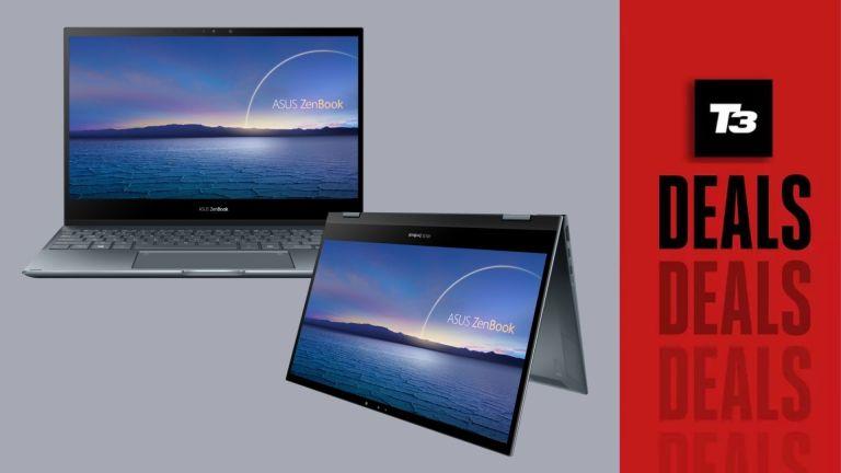 Best Black Friday 2-in-1 Laptop deals, Asus laptop on grey background