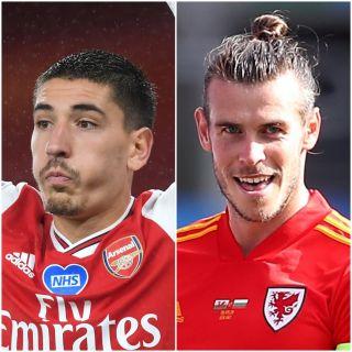 Hector Bellerin and Gareth Bale