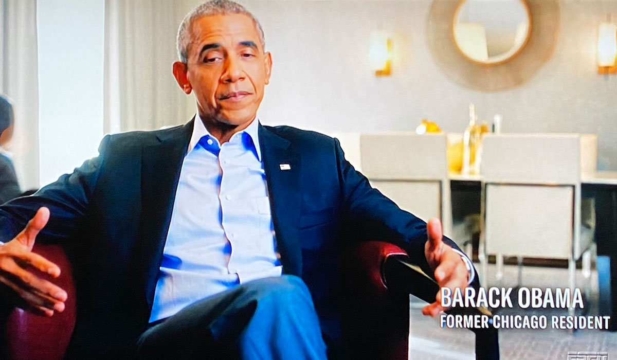 Barack Obama speaking in The Last Dance documentary.