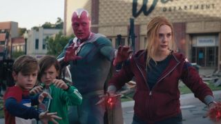 Wanda Maximoff, Vision, Speed and Wiccan ready to fight in WandaVision