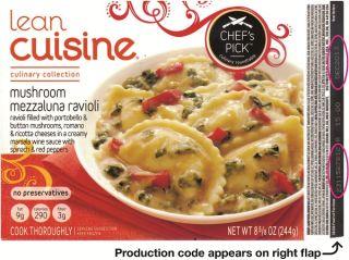 recall, lean cuisine, nestle prepared foods company, Culinary Collection Mushroom Mezzaluna Ravioli
