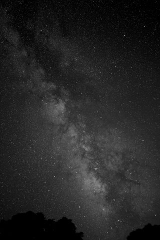Milky Way Black and White