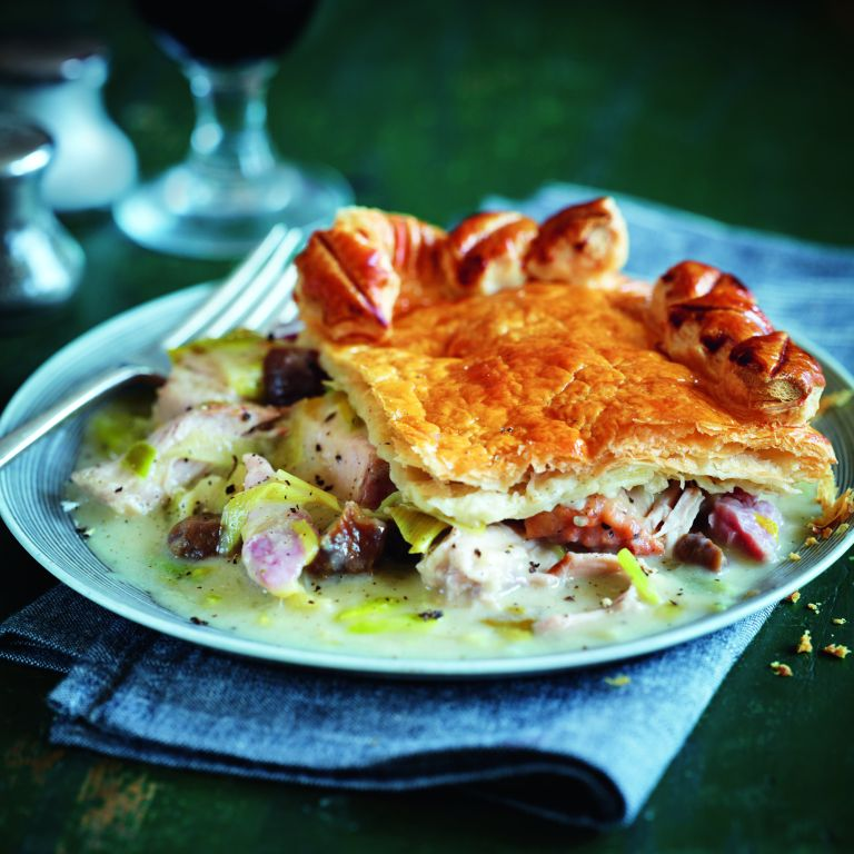 Chestnut pie with leeks-christmas left overs-woman and home