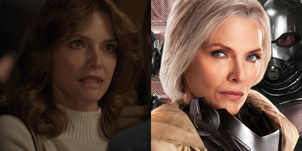 Michelle Pfeiffer playing Janet Van Dyne De-aged In Ant-Man And The Wasp