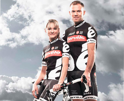 Claudia Hausler and Thor Hushovd, Cervelo Test Team