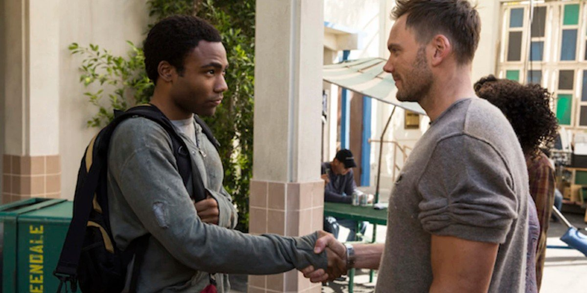 Joel McHale and Donald Glover in Community