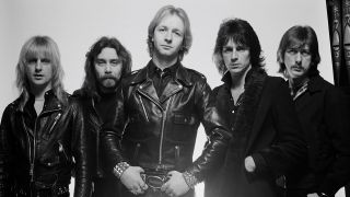 Holland, far right, with Judas Priest in 1980