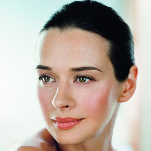 model with clear skin photo