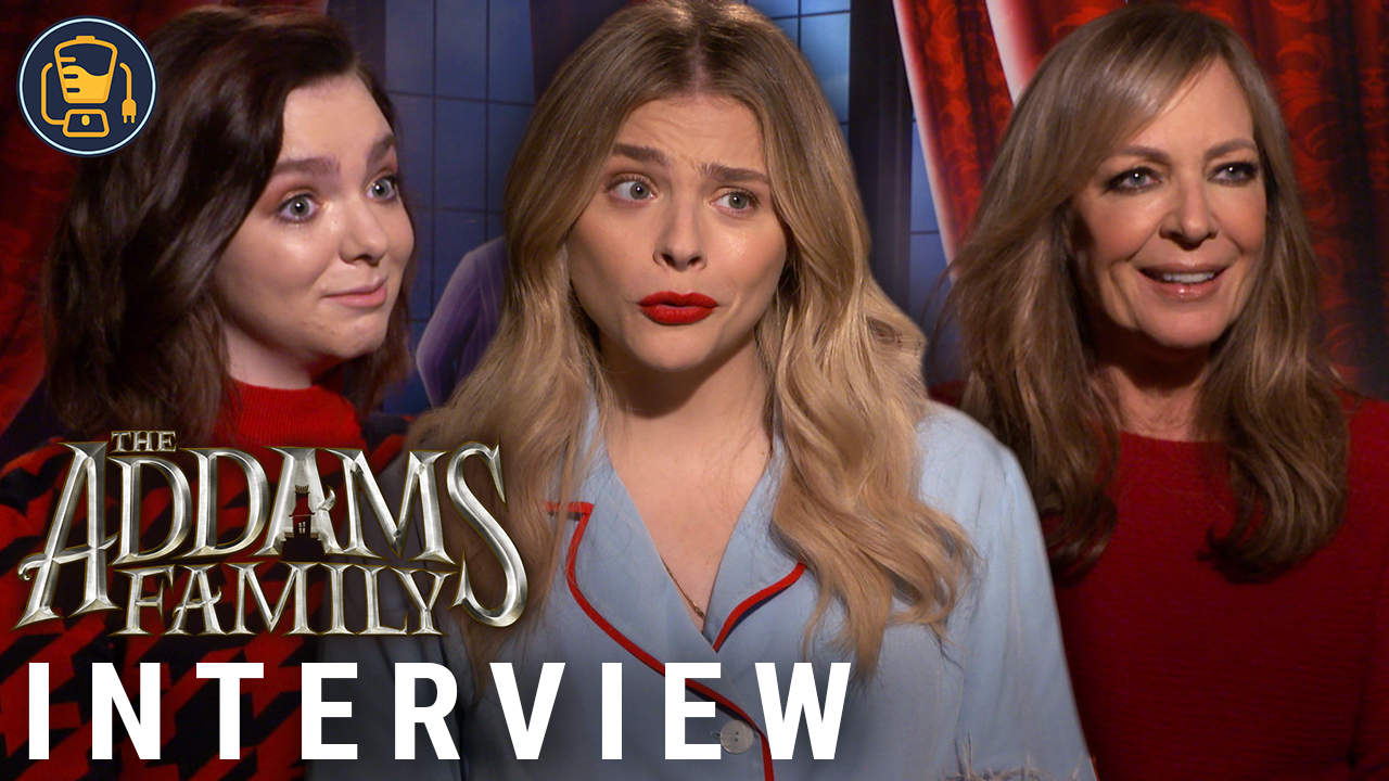 Video | The Addams Family Interviews with Chloe Grace Moretz, Elsie Fisher & Allison Janney