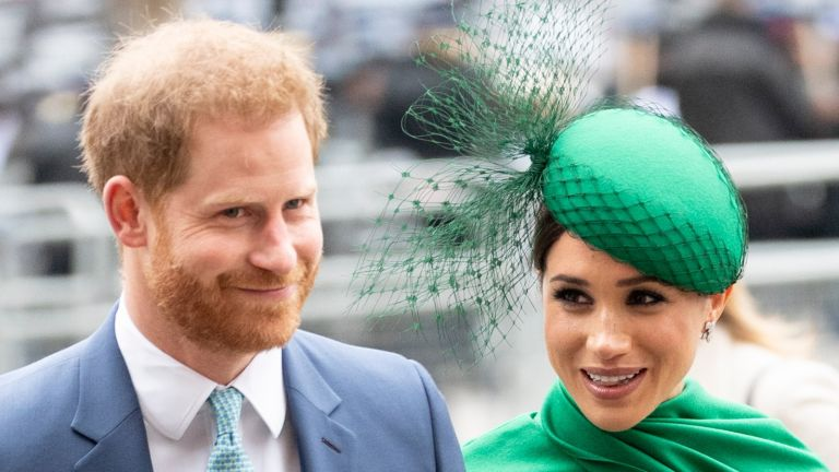 Prince Harry, Duke of Sussex and Meghan, Duchess of Sussex attend the Commonwealth Day Service 2020 at Westminster Abbey on March 9, 2020 in London, England