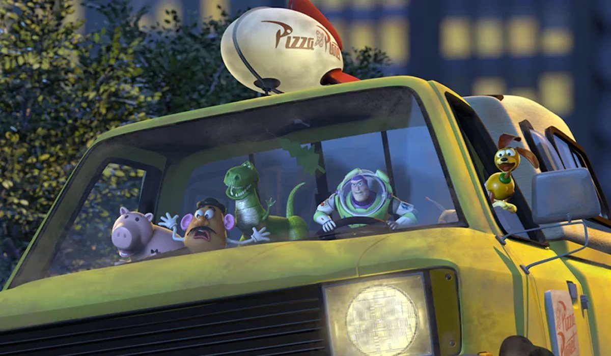 Pizza Planet truck in Toy Story