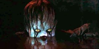 IT Pennywise submerged in the basement flood