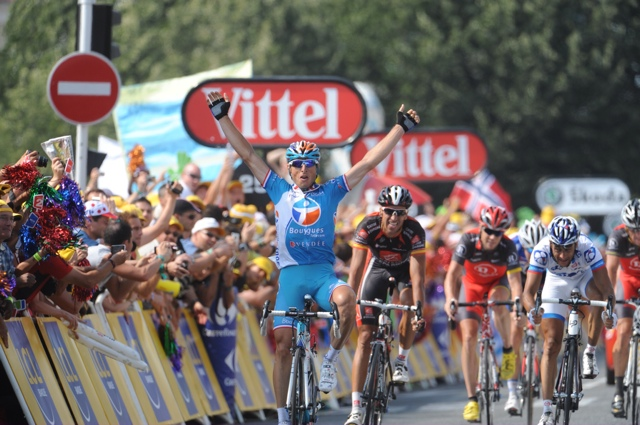 Pierrick Fedrigo wins, Tour de France 2010, stage 16