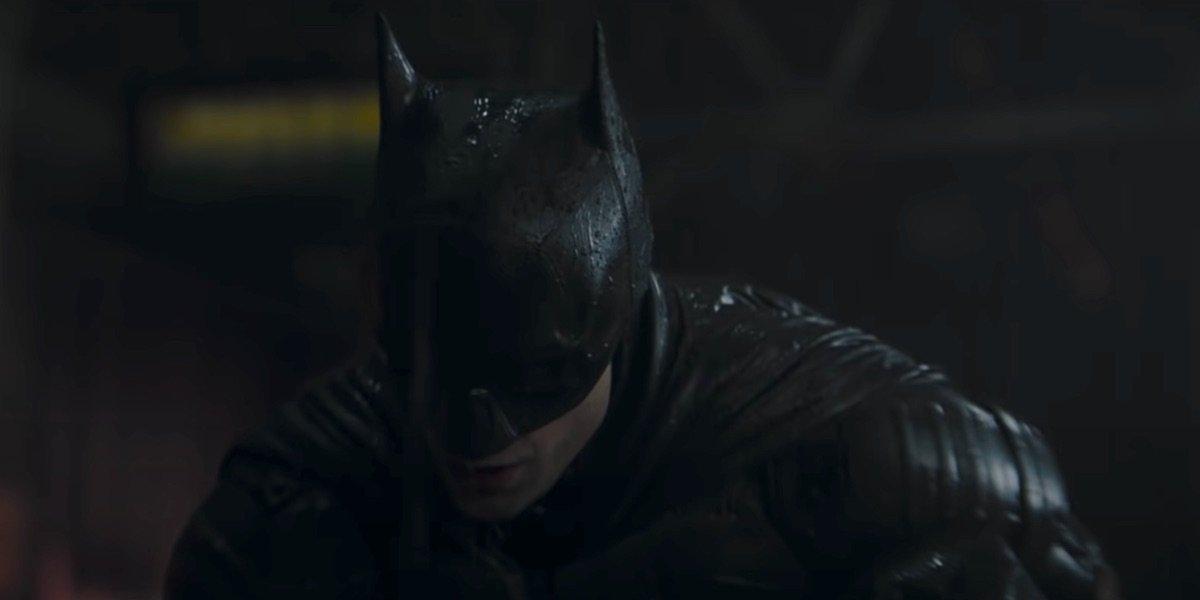 Robert Pattinson suited up as Batman