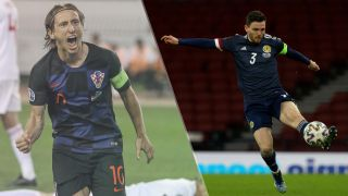Croatia vs Scotland live stream at Euro 2020 — Luka Modric of Croatia and Andy Robertson of Scotland