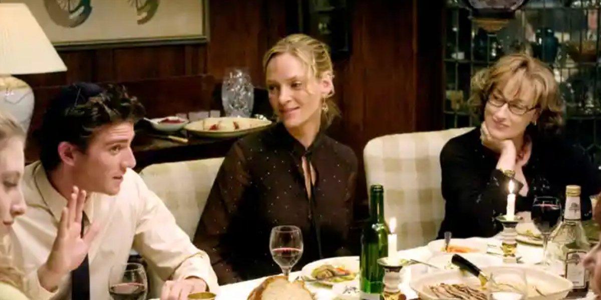 Bryan Greenberg, Uma Thurman, and Meryl Streep in Prime