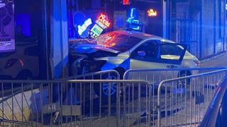 A car crashed into a bar where POD were playing
