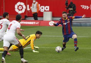 Lionel Messi was in fine form as Barcelona beat LaLiga rivals Sevilla