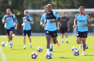 Fernandinho and Manchester City prep for their upcoming Champions League match against Real Madrid.