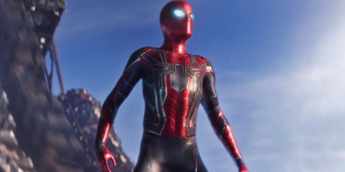 Spider-Man in the Iron Spider Armor in Avengers Infinity War