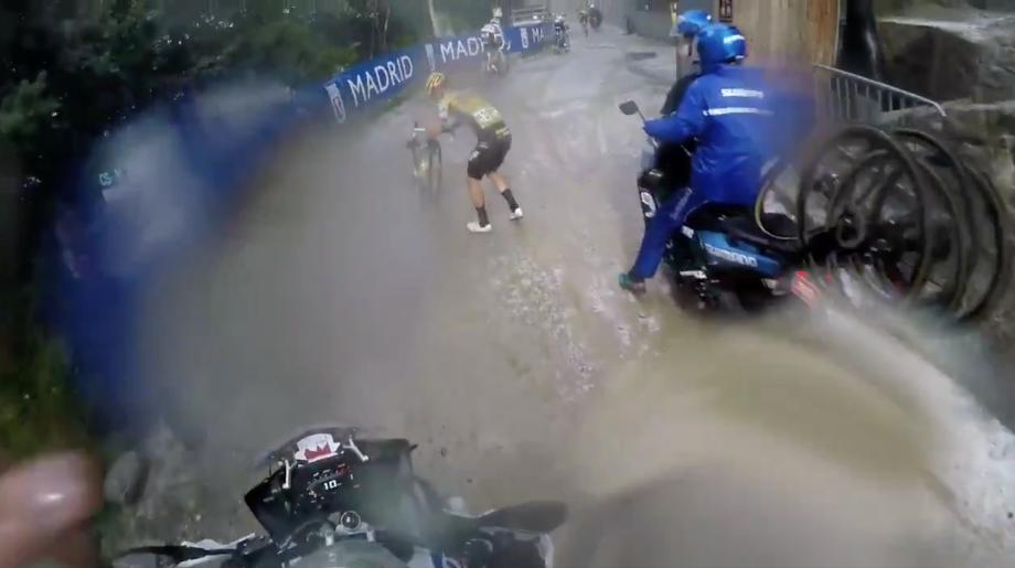 Watch: Primož Roglič Vuelta crash captured on camera despite TV blackout