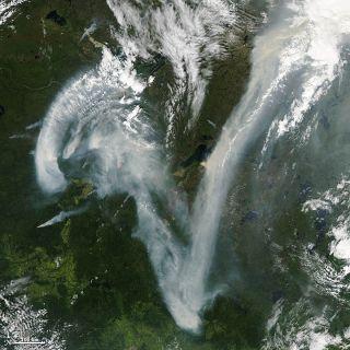 Wildfire Image by NASA Aqua Satellite