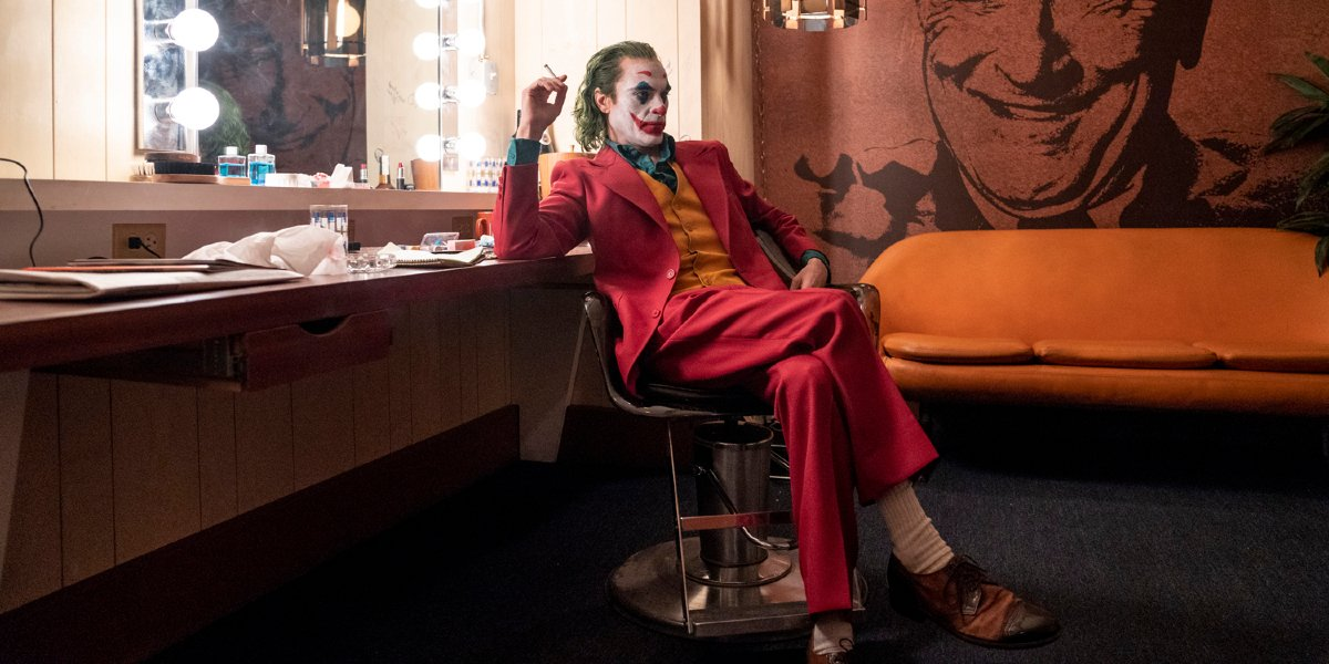 Joker sitting in the Murray Franklin green room, with a cigarette