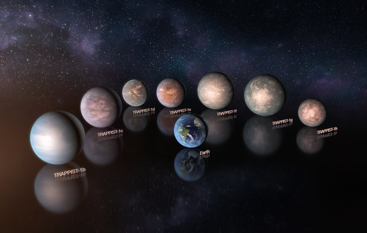 TRAPPIST-1 Worlds Are Rocky and Rich in Water, New Research Uncovers