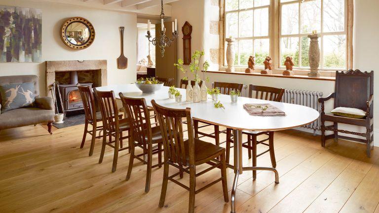 How to refinish hardwood floors - dining room