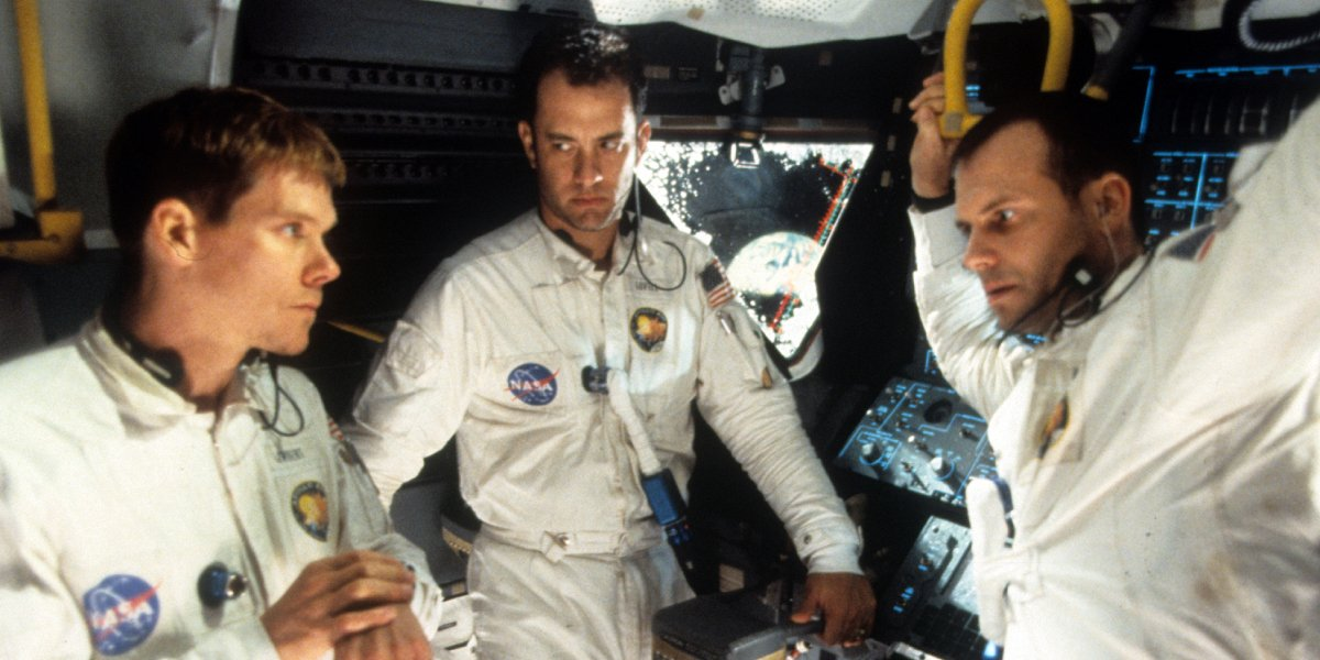 Kevin Bacon, Tom Hanks, and Bill Paxton in Apollo 13